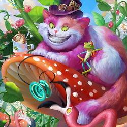 Пазл онлайн: Забавы Чеширского кота