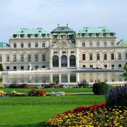 Пазл онлайн: Дворец Бельведер в Вене. Австрия