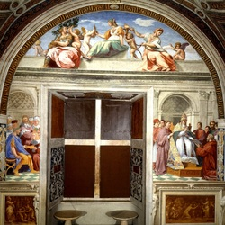 Пазл онлайн: Кардинал и Богословская Добродетели