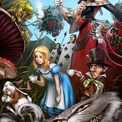 Пазл онлайн: Алиса в стране чудес
