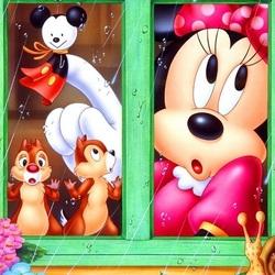 Пазл онлайн: А, за окном дождь