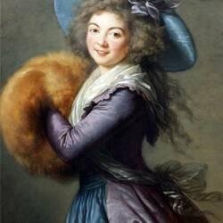 Пазл онлайн: Портрет мадам Мол