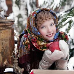 Пазл онлайн: Русская красавица