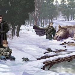 Пазл онлайн: Волчата