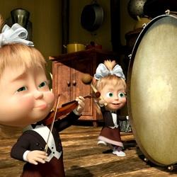 Пазл онлайн: Маша-барабанщица