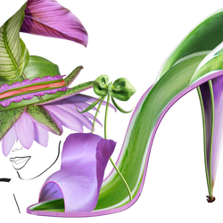 Пазл онлайн: Цветочные фантазии Мишеля Черевкова