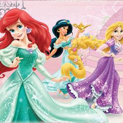 Пазл онлайн: Принцессы Дисней