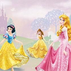 Пазл онлайн: Принцессы Аврора, Белль и Белоснежка