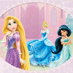 Пазл онлайн: Принцессы Рапунцель, Жасмин и Золушка