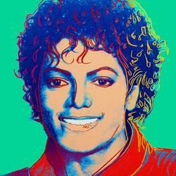 Пазл онлайн: Майкл Джексон Энди Уорхола
