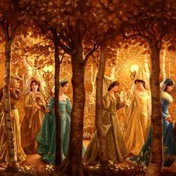 Пазл онлайн: The Twelve Dancing Princesses/ Двенадцать Танцующих Принцесс
