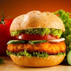 Пазл онлайн: Гамбургер