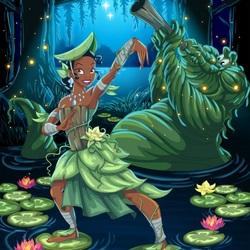 Пазл онлайн: Тиана – хранительница болот