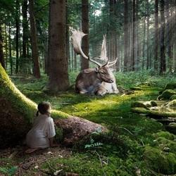 Пазл онлайн: Лесной великан