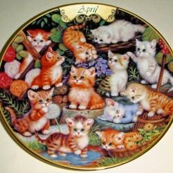 Пазл онлайн: Апрельские котята