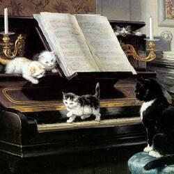 Пазл онлайн: Маленькие пианисты