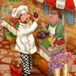 Пазл онлайн: Привередливый повар