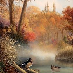 Пазл онлайн: Осеннее утро