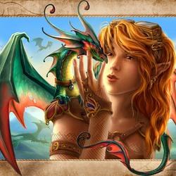Пазл онлайн: Ручной дракон