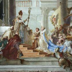 Пазл онлайн: Брак императора Фредерика Барбароссы с Беатрис Бургундской
