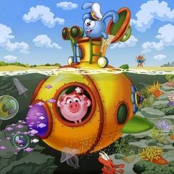 Пазл онлайн: Подводная лодка