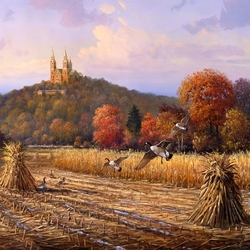 Пазл онлайн: Осеннняя пора
