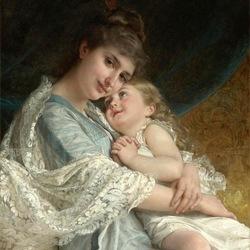 Пазл онлайн: Портрет матери и дочери