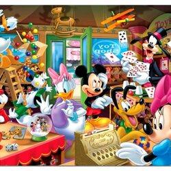 Пазл онлайн: Микки в магазине игрушек
