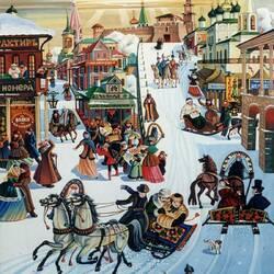 Пазл онлайн: Масленица в Нижнем Новгороде