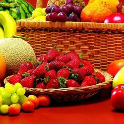 Пазл онлайн: Ягоды, фрукты, овощи