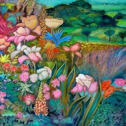 Пазл онлайн: Райский сад