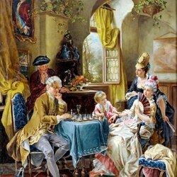 Пазл онлайн: Шахматная партия