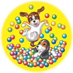 Пазл онлайн: Весёлые пузыри