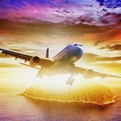 Пазл онлайн: Полет в лучах солнца
