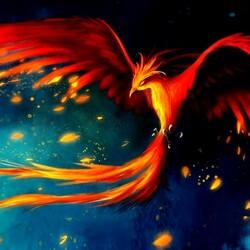 Пазл онлайн: Птица-феникс