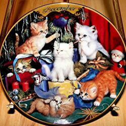 Пазл онлайн: Декабрьские котята