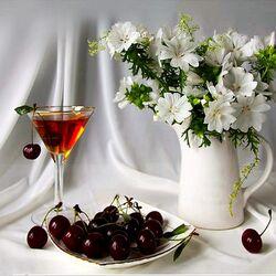 Пазл онлайн: Бокал вина