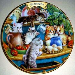 Пазл онлайн: Ноябрьские котята