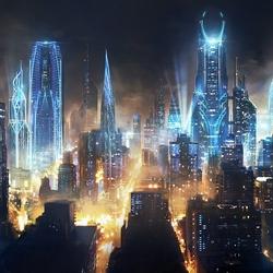 Пазл онлайн: Город будущего