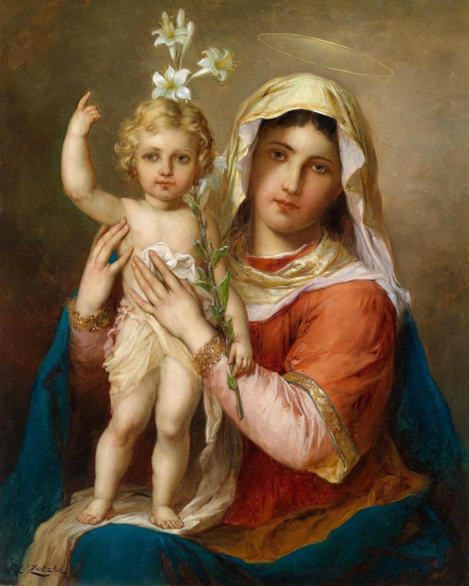 Красивые открытки, картинки девы марии с младенцем