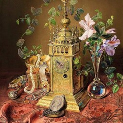 Пазл онлайн: Натюрморт с антиквариатом