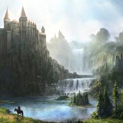 Пазл онлайн: Горный замок