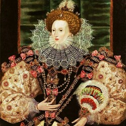 Пазл онлайн: Портрет королевы Елизаветы I