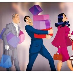 Пазл онлайн: Поход по магазинам