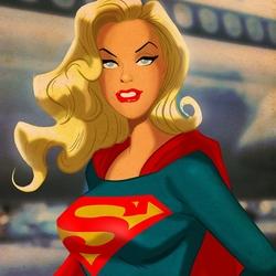 Пазл онлайн: Супер Гёрл