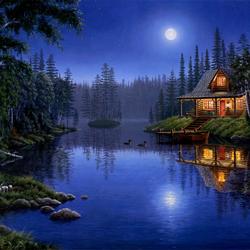 Пазл онлайн: Ночная серенада