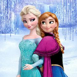 Пазл онлайн: Королева Эльза и Принцесса Анна