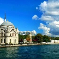 Пазл онлайн: Мечеть Долмабахче, Стамбул