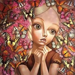 Пазл онлайн: Большеглазая кукла