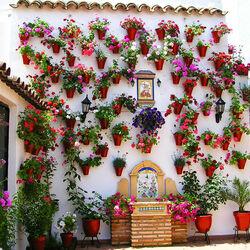 Пазл онлайн: Цветочные дворики Испании